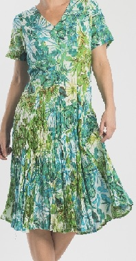 Green Print Flowy Dress S18,20